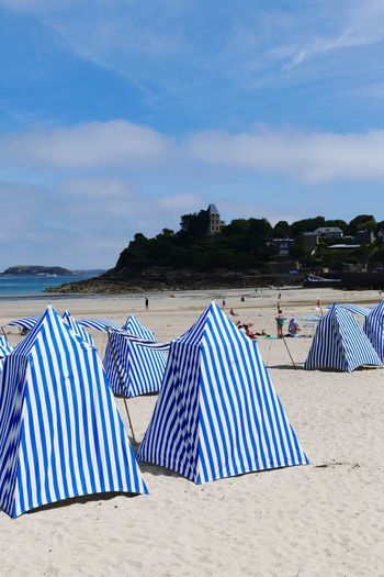 Beach Striped Sand Cloud - Sky Canopy Vacations Blue Beach Photography Beach View Beach Time Beach Tent Dinard Brittany France