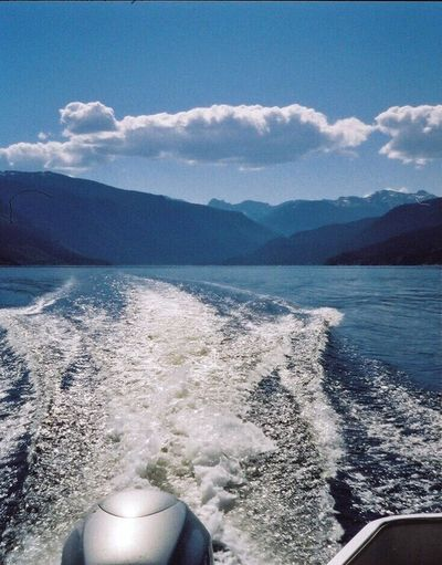 Been There. Mountain Water No People Nature Sea Scenics Cloud - Sky Beauty In Nature Tranquility Mountain Range Day Sky Outdoors Lake Boating Rocky Mountains Colorado Summer 35mm Wake - Water Boat Pontoon Grand Lake Forest