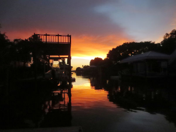 Canal Cloud - Sky Florida Life Orange Color Reflection Silhouette St. Augustine, FL  Sunset Tranquility