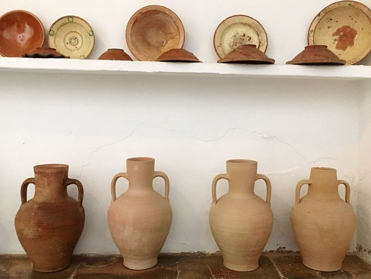 Pottery Earthenware Art And Craft Craft Clay Indoors  Shelf No People Skill  Day Close-up