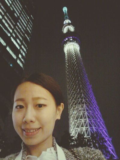 Selfie Skytree Hello World Taking Photos