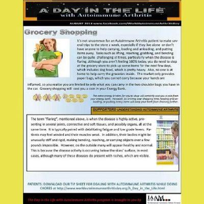 Autoimmune Arthritis Awareness Advocacy ADayInTheLife GroceryShopping