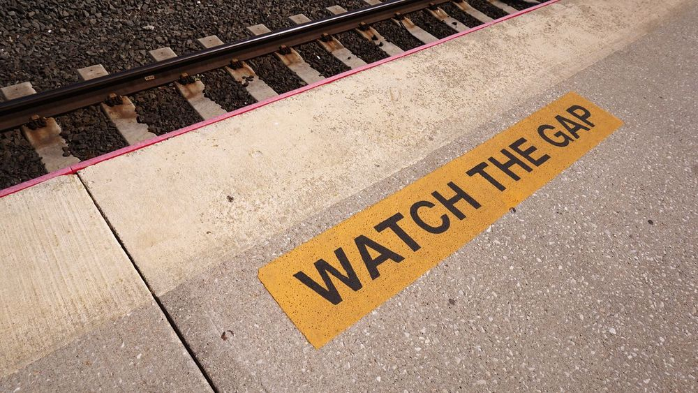 Watch The Gap LIRR  NYC Train Station Sign