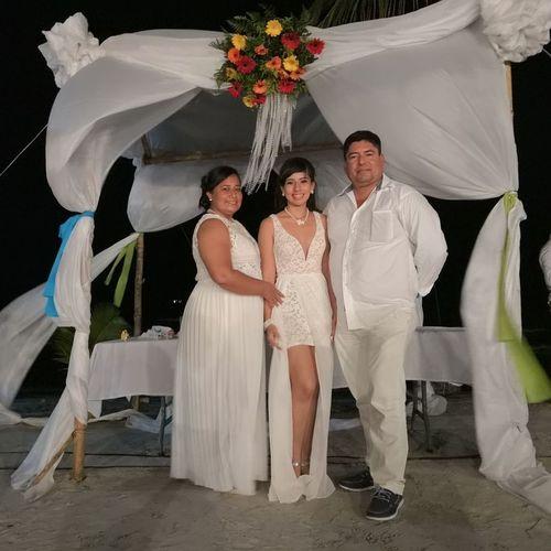 Bride Wedding Dress Flower Smiling Togetherness Men Portrait Women Full Length Standing