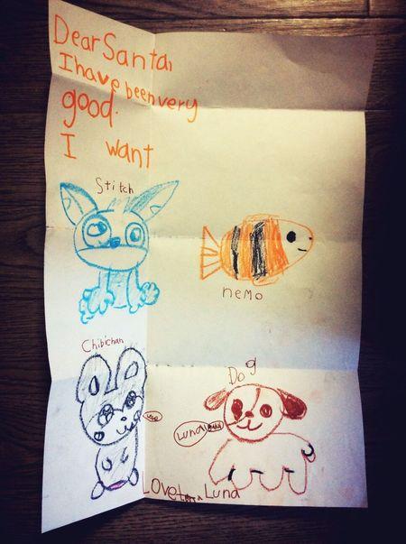 Letter Letter To Santa Santa Claus Chrismastime Child Memory