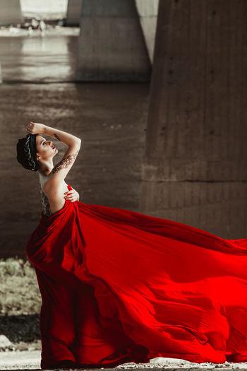 Bridge Fashion Fashion Photography Girl Mehendi Mehendiart Red Red Dress Natural Light Portrait Showcase June TakeoverContrast Inner Power