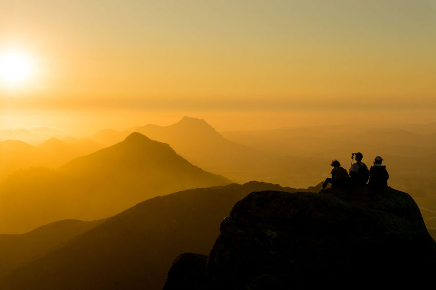 On top of Bishops Peak in San Luis Obispo. Sunset Silhouette Landscape Mountain Outdoors San Luis Obispo Bishops Peak Clouds And Sky California Sony A6000 Golden Sky