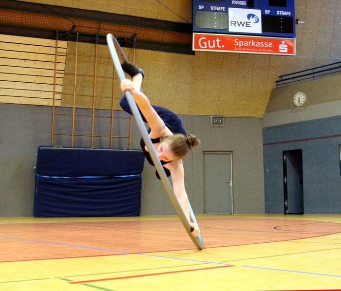 Arnsberg Sauerland Cyr Wheel Indoors  One Person One Woman Only Rhönrad Sport Sports Photography Turnen