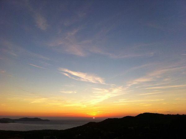 Sunset Mountain Atmosphere