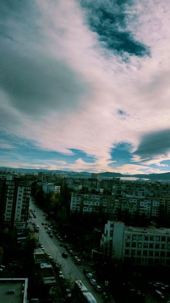 Dramatic Sky Cloud - Sky Sky Day City Bestcityview Blue And White Blue Sky And Clouds Mountains And Sky Sofia, Bulgaria Beauty In Nature Nature Architecture Low Angle View City Building Exterior Cars Road Trafic Urban Skyline Urbanphotography Urban Nature Colors
