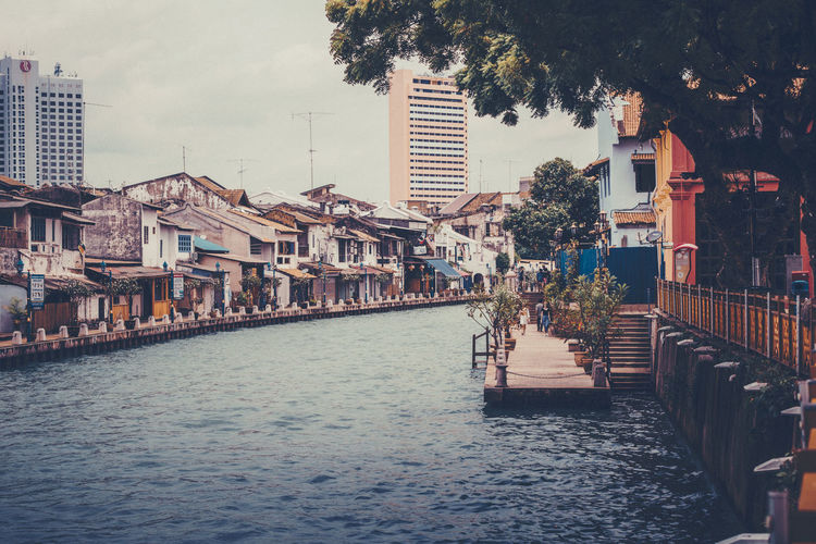 Melaka, Malaysia ASIA Asian  Melaka Melaka River Architecture Building Exterior Built Structure Canal City Day Malacca River No People Outdoors River Sea Sky Town Travel Destinations Tree Water Waterfront