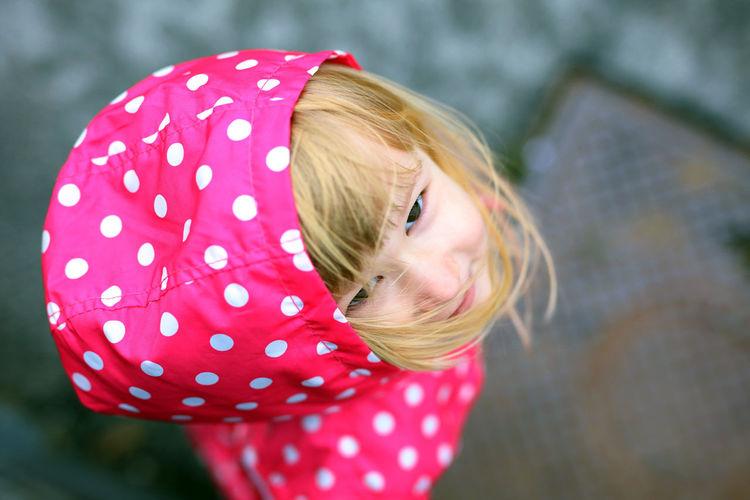 Close-Up Of Girl Looking At Camera