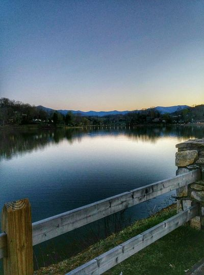 Lake Junaluska! Reflection Beauty In Nature Tranquility Water Lake Tranquil Scene Outdoors Nature Scenics Landscape Sky No People EyeEm Lake Junaluska, NC Night Photography Cell Phone Photography