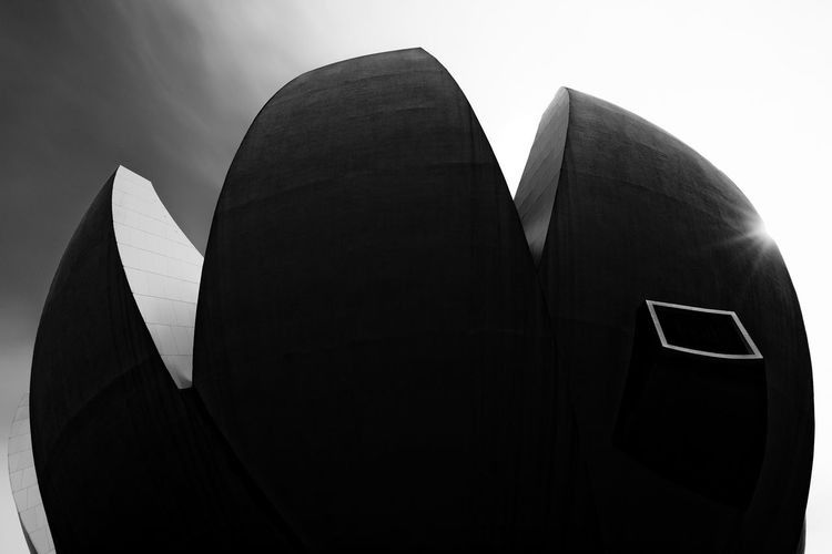 Abstract Abstract Photography Architecture Astronomy Black And White Building Exterior Built Structure Close-up Curves Day Fine Art Photography Futuristic Futuristic Infrared Long Exposure Low Angle View Marina Bay Sands Museum No People Outdoors Science Shapes Sky Text
