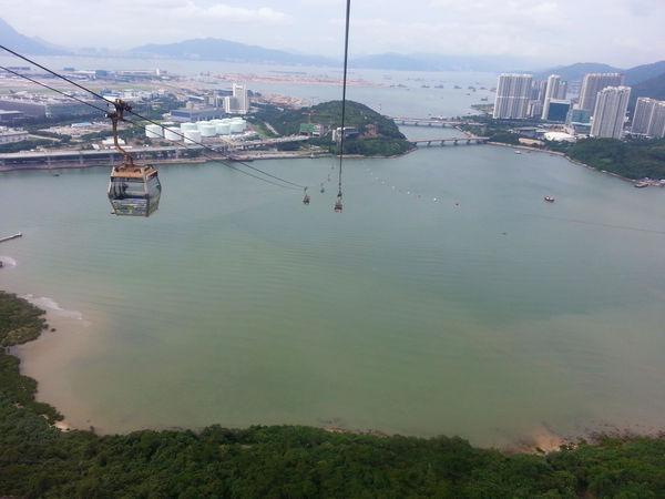 Cable Car China City Day Hong Kong Light Sea Sunny