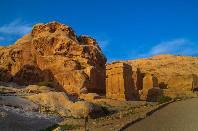 EyeEmNewHere Petra Jordan Beauty In Nature Day Desert Landscape Lost City Mountain Nature No People Outdoors Physical Geography Rock - Object Rock Formation Scenics Sky Travel Destinations