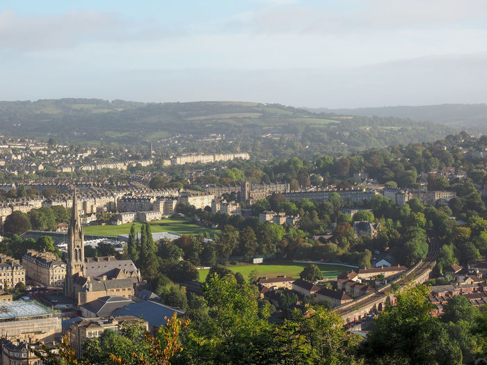Aerial view of Bath, England Architecture Bath City Cityscape Skyline United Kingdom Aerial View England Town
