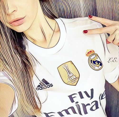 Young Adult Lifestyles Leisure Activity Real Madrid C.F. Hala Madrid Sport Girl Champions Adidas Fly Emirates Love Win