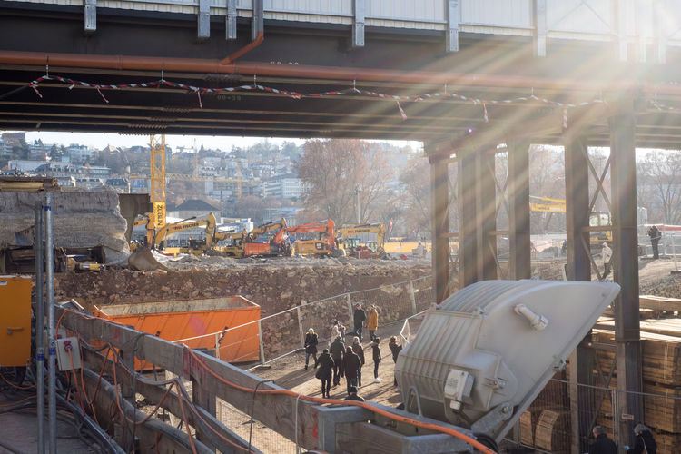 Auf der Baustelle für Stuttgart 21 Architechture Built Structure City Construction Site Construction Work Day S21 Stuttgart 21 Work