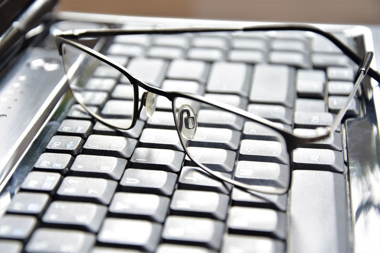 glasses on the