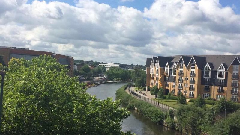 A view of Maidstone from the bridge connecting Maidstone Barracks and Maidstone East train stations. Building Exterior City Cityscape Cloud - Sky Day EyeEmNewHere Green Kent Maidstone Nature Nature Photography No People Outdoors River Riverside Sky Town TOWNSCAPE Tree Tree Water