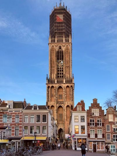 Utrecht Dom Tower Restoration Dom Dutch Holland Netherlands Utrecht Architecture Building Exterior Built Structure Building Sky City Tower Travel Destinations Tourism Travel Day The Past History Clock Tower Tall - High Incidental People Outdoors