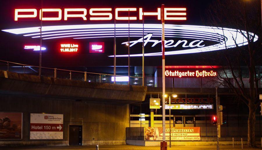 Porschearena Neckarpark Stuttgart,Germany Stuttgart City Stuttgart Night 0711 Porsche Neon Bad Cannstatt