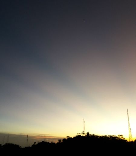 Sunset Silhouette Sky Nature Scenics Tranquil Scene No People Beauty In Nature Outdoors Tree Star - Space Night Astronomy
