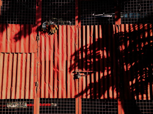 Red No People Architecture Pattern Metal Built Structure Day Building Exterior Street Hand Wood - Material Gloves Non Human Streetphotography Street Photography Street Light Eyeem Philippines