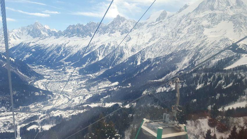 Aiguille Du Midi Mountain Snow Winter Mountain Range France Landscape Alps Chamonix Mont Blanc Massif Snowcapped Mountain Ski Holiday Cable Car