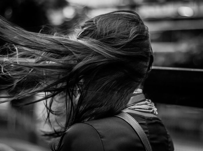 moving Buenos Aires Buenos Aires, Argentina  Portrait Of A Woman Beautiful Woman Blackandwhite Bnw_captures Bnw_collection Bnwphotography Buenosaires Day Focus On Foreground Hair Hairstyle Headshot Human Hair Long Hair Movement One Person Portrait Real People Rear View Streetphoto_bw Streetphotography Wind Women The Photojournalist - 2018 EyeEm Awards The Street Photographer - 2018 EyeEm Awards International Women's Day 2019