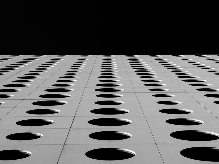 Abstarct Black Sky Blackandwhite Photography Circles Facades Feb 25, 2017 Friends Hotel Pattern Stockholm, Sweden The Graphic City
