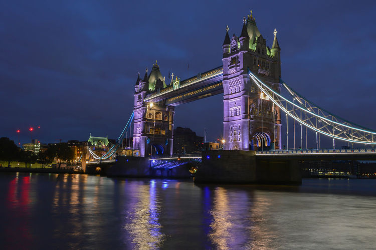 Architecture Bridge - Man Made Structure Building Exterior City Culture Early Morning Famous Place International Landmark Lighted London LONDON❤ Long Exposure Low Angle View Night Nightphotography River Thames River Tower Bridge  Tower Bridge  Transportation Travel Travel Destinations United Kingdom London Lifestyle