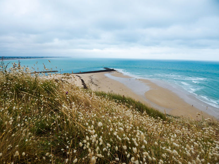 Beach Beauty In Nature Cloud - Sky Day Grass Horizon Over Water Landscape Marram Grass Nature No People Outdoors Sand Sand Dune Scenics Sea Shore Sky Tranquil Scene Tranquility Travel Destinations Vacations Water Wave