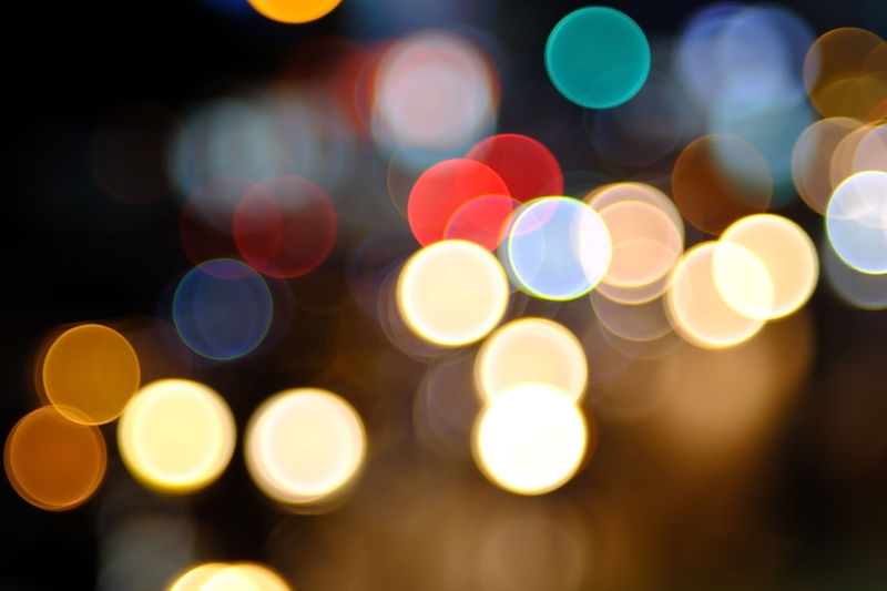 Defocused image of lights at night