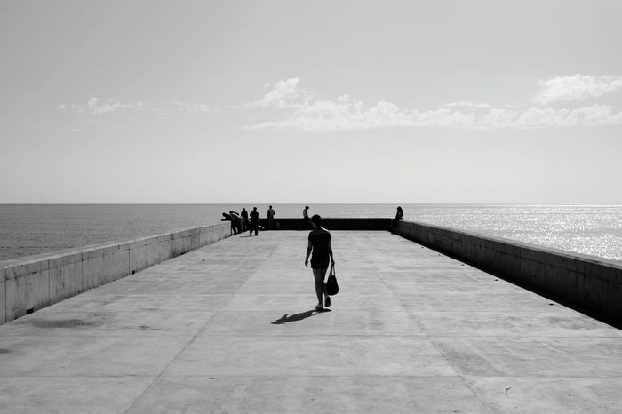Black & White B&w Photography Enjoying The Sun Enjoying The View Sea And Sky Seaside Sea Sea View Las Palmas Las Palmas De Gran Canaria