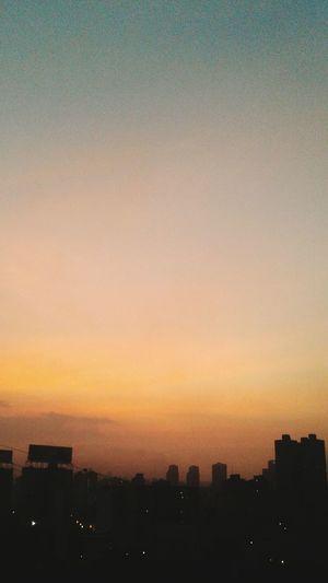 Sunset City Orange Color Cityscape Sky Urban Skyline Dramatic Sky Caracas