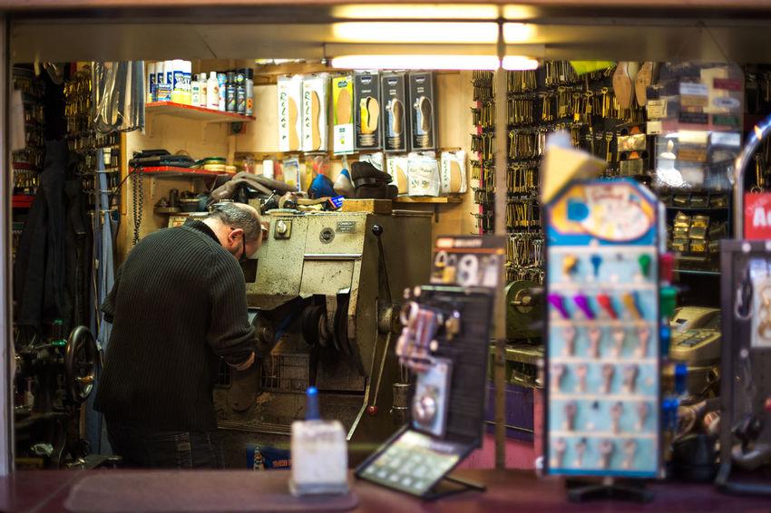 Cobbler Cobbler Shop Hard Work Indoors  Manual Men Person Retail  Work