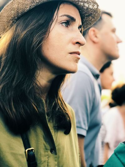 Womenportrai EyeEm Selects Young Adult Portrait Young Women Adult Headshot Women Real People Lifestyles Hat Togetherness Focus On Foreground Long Hair Men People Leisure Activity Casual Clothing Looking Fashion