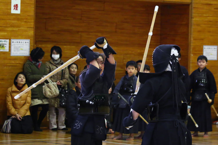 My Daughter Kendo Senior Examination Tokyo Japan EyeEm EyeEm Best Shots Asian Culture Japanese Culture Budo Ready to Hit !