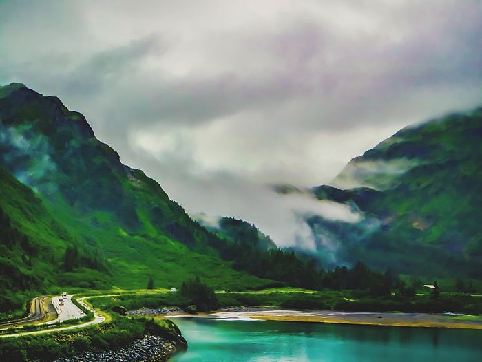 A foggy day Photography Canonphotography Clouds And Sky Shades Of Sky EyeEm Best Shots - Landscape Trees Trees And Sky EyeEm Nature Lover Exploring Shades Of Blue Naturephotography Alaskan Nature Nature Travel Photography Nature Photography Nature_collection Canon Landscapes Showcase July