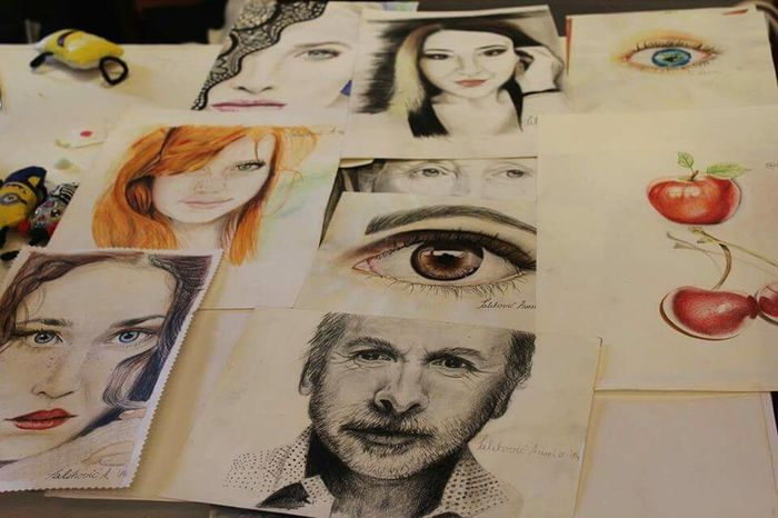 Artworks My Artworks Realistic Drawing Portraits Dino Merlin Salihovic Sarajevo Crafts Mix Media Drawing Colorful Mix Yourself A Good Time