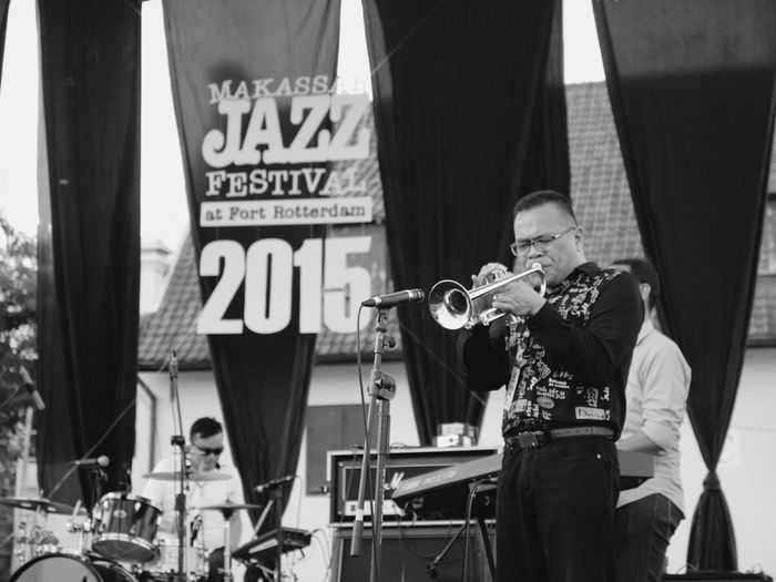 Makassar Jazz Festival Live Music Historic Site Blackandwhite Leica Digilux 3 Collected Community Jazzfest Musician