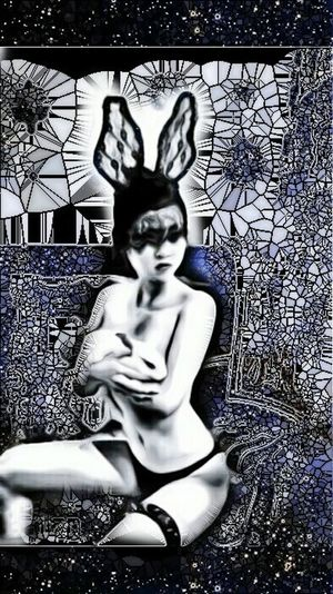 She is always just out of focus...Bunnygirl Visual Poetry Mask Myview Notes From The Underground The Human Condition Sexygirl Woman Dark Art Anti-selfie
