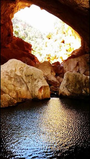 Tonto Natural Bridge Payson, AZ Rock - Object Water Sunlight Nature Tranquility Beauty In Nature