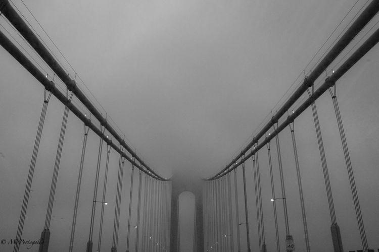Verrazano Bridge Architecture Bridge Built Structure Cloud Cloud - Sky Dreary Weather  Engineering Fog Low Angle View New York Outdoors Sky Weather