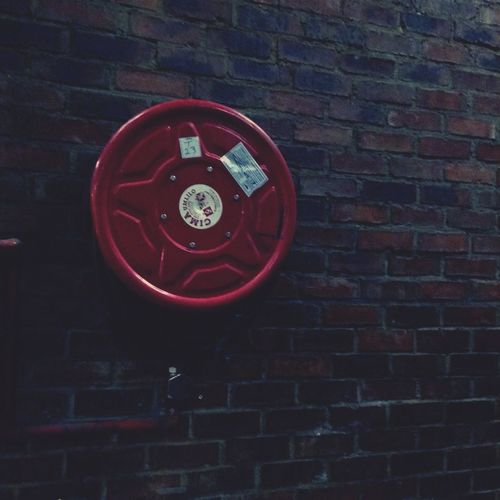 Showcase April Red Fire Hose In Case Of Emergency Basement