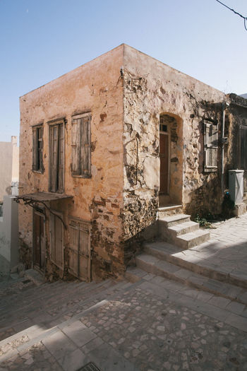 A home in syros Abandoned Architecture Building Building Exterior Built Structure Clear Sky Day History No People Outdoors Syros