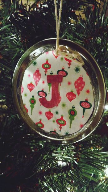 Alphabetography Christmasornament