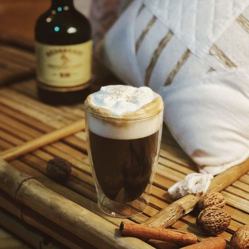 finally uploading my cocktail photos here - if you want a recipe, let me know in the comments or check out my Instagram 🥃 Cocktail Coffee Food And Drink Glasses Going Out Ice Cube Irish Coffee Spirit Alcoholic Drink Alkohol Bartender Bartending Cinnamon Sticks Close-up Cocktails Cozy Delicious Foodphotography Freshness Irish Whiskey Milk Foam Mixology Recipe Walnuts Warm Light